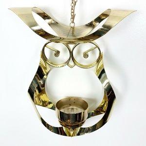 Mascot International Owl Mid-Century Metal Hanging